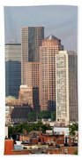 Downtown Boston Skyline Bath Towel