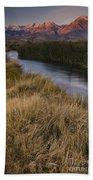 Eastern Sierras And Owens River Bath Towel