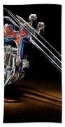 Evel Knievel Harley-davidson Chopper Bath Towel