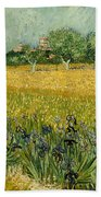 Field With Flowers Near Arles Bath Towel