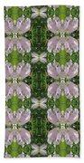 Flowers From Cherryhill Nj America Silken Sparkle Purple Tone Graphically Enhanced Innovative Patter Bath Towel