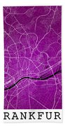 Frankfurt Street Map - Frankfurt Germany Road Map Art On Colored Bath Towel