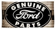 Genuine Ford Parts Sign Bath Towel