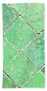 Green Tiles Bath Towel