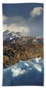 Grey Glacier In Chilean National Park Bath Towel