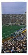 High Angle View Of A Football Stadium Bath Towel