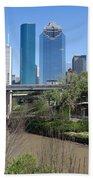Houston Skyline Bath Towel