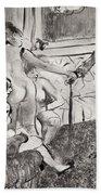 Illustration From La Maison Tellier By Guy De Maupassant Bath Towel