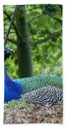Indian Blue Peacock Bath Towel