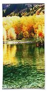 Lake Reflection In Fall Bath Towel