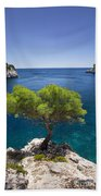 Lone Pine Tree Bath Towel