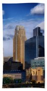 Minneapolis Skyline Bath Towel