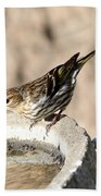 Pine Siskin Bath Towel
