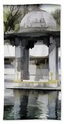 Premises Of The Hindu Temple At Mattan With A Water Pond Bath Towel