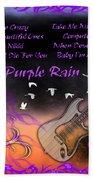 Purple Rain Bath Towel