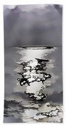 Rays Of Light Shimering Over The Waters Bath Towel
