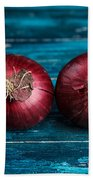 Red Onions Hand Towel by Nailia Schwarz