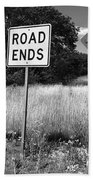 Route 66 - End Of The Road Bath Towel