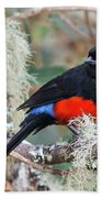 Scarlet-bellied Mountain-tanager Bath Towel