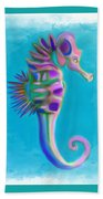 The Pretty Seahorse Bath Towel by Deborah Boyd
