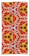 Seamlessly Tiled Kaleidoscopic Mosaic Pattern Bath Towel