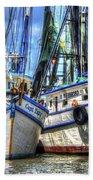 Shrimp Boats Season Bath Towel