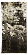 Sleeping Woman, C1900 Bath Towel