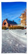 Snow Around Billy Graham Library After Winter Storm Bath Towel