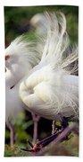 Snowy Egret Bath Towel