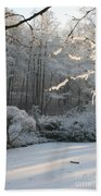 Snowy Trees Landscape Bath Towel