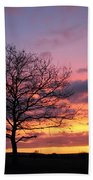 Spectacular Sunset Epsom Downs Surrey Uk Bath Towel