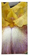 Tall Bearded Iris Named Butterfingers Bath Towel