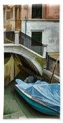 Venice Canal Bath Towel