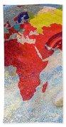 World Map And Barack Obama Stars Hand Towel