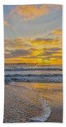Ocean Beach Pier Sunset Bath Towel