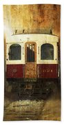 321 Antique Passenger Train Car Textured Bath Towel