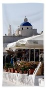 Views Of Santorini Greece Bath Towel