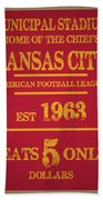 Kansas City Chiefs Bath Towel