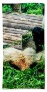 3722-panda -  Watercolor 1 Bath Towel