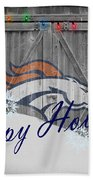 Denver Broncos Bath Towel by Joe Hamilton