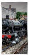 3802 At Llangollen Station Bath Towel