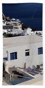 Views Of Santorini Greece Bath Towel