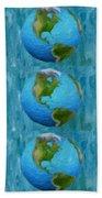 3d Render Of Planet Earth 1 Bath Towel