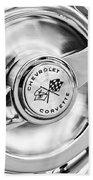 1957 Chevrolet Corvette Wheel Bath Towel