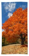 A Blanket Of Fall Colors Bath Towel