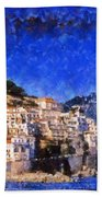 Amalfi Town In Italy Bath Towel