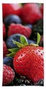 Assorted Fresh Berries Hand Towel