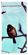Bird In Tree Bath Towel