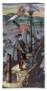 Christopher Columbus (1451-1506) Bath Towel