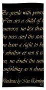 Desiderata Bath Towel